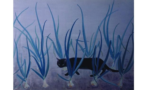 玉葱畠と猫